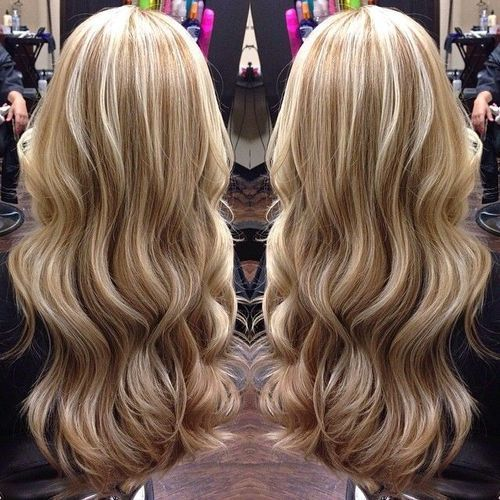 ❤ Pretty Caramel Lowlights & Vanilla Blonde Highlights ❤