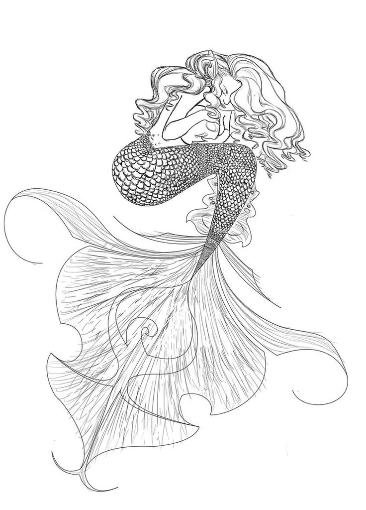 The 25 Best Realistic Mermaid Drawing Ideas On Pinterest