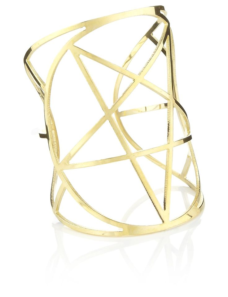 Brass Pentagram Cuff | Pamela Love | Avenue32