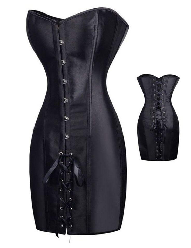 AA9267 gothique arnés de cuero de La Vendimia de acero deshuesado corsé negro vestido de corsé gótico overbust steampunk corsé de látex mujeres cuerpo
