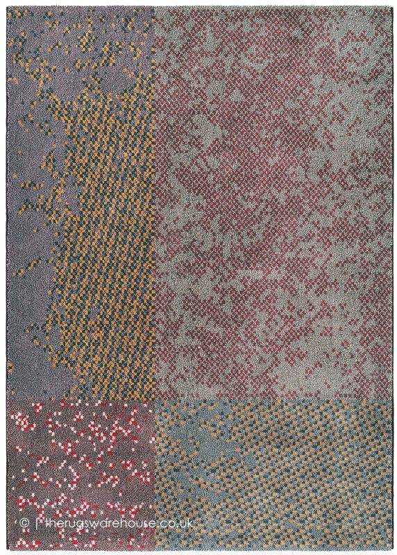 New In Focus Dark Mix Rug By Brink Campman A Multi Coloured Contemporary Wool Tencel Designer Machine Woven From Blend