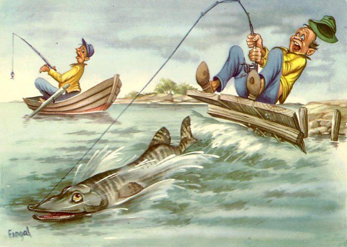 данное смешные картинки с рыбаком и рыбкой самом