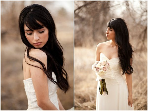 gorgeous hair and peachy / bronze make up (photo by Lora Grady Photography)