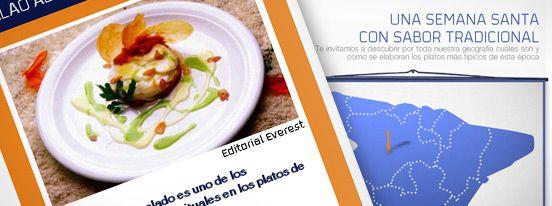 Mapa interactivo con los platos típicos de Semana Santa para Guía Repsol