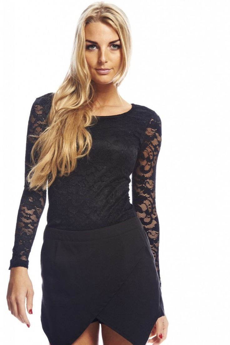 Lace Tops With Sleeves