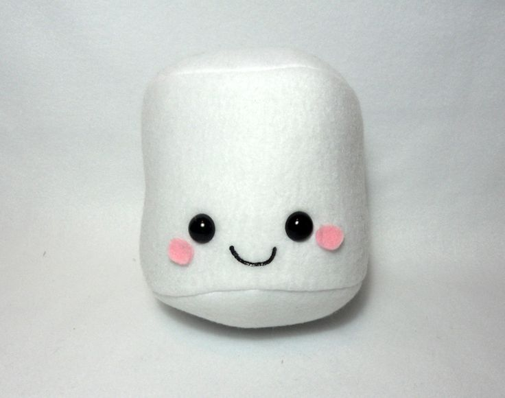 Cute Marshmallow Plush -MADE TO ORDER- | Marshmallows ...