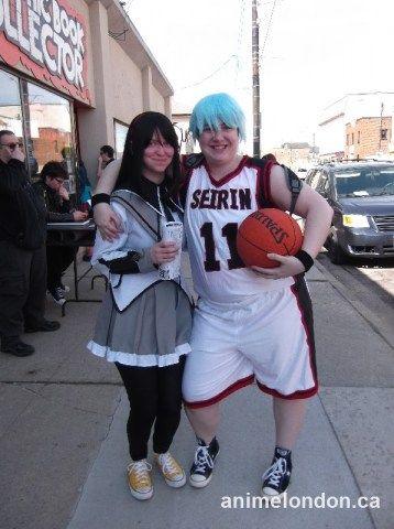 Puella Magi Madoka Magica and Kuroko Basketball cosplay