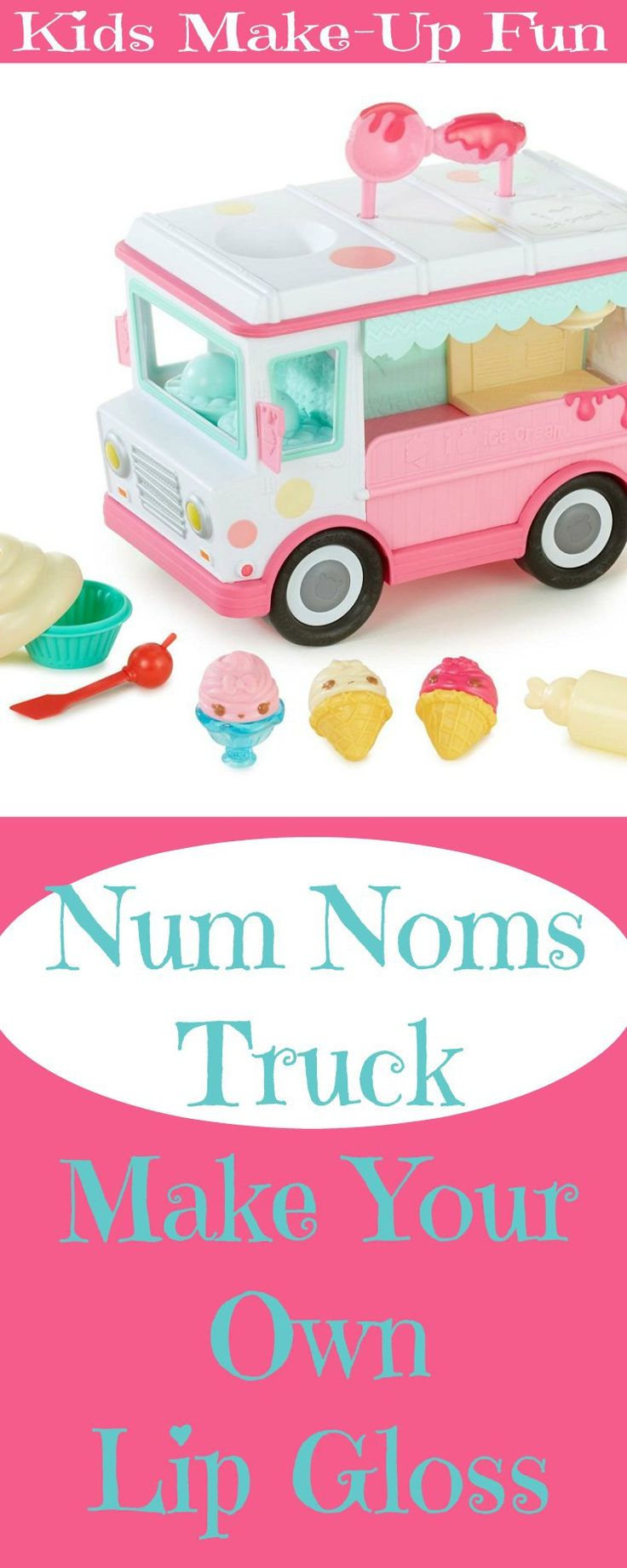 Num Noms Truck Lip Gloss Kit helps kids make their own flavored lip gloss. For kids into fashion and make-up, this is thrilling. Learn how today!