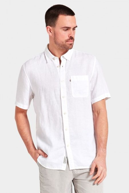 The Academy Brand - Hampton Linen Ss Shirt - White