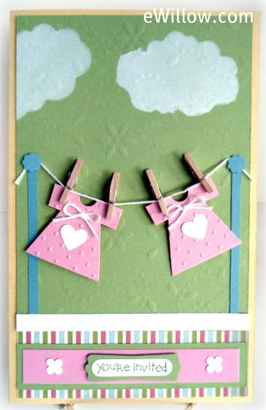 baby shower clothesline invitation the party is here pinterest