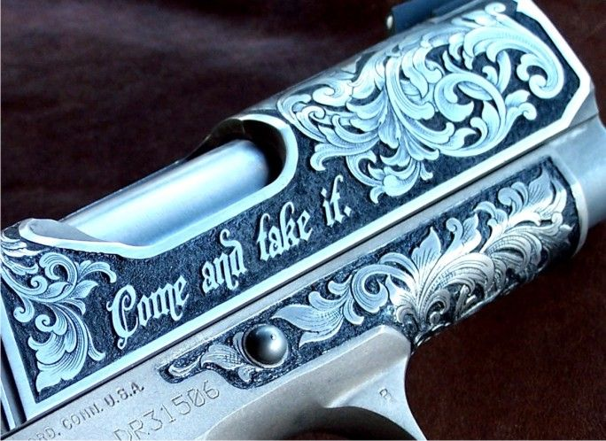Colt Defender  Engraving by Otto Carter, Abilene, TX.  www.ottocarter.com