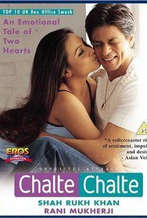 Chalte Chalte - romance drama about A chance accident between the car and a truck driven by Priya and Raj leads to romance. The marriage is celebrated by great pomp and ceremony. But after a year of their marriage, things are not quite rosy as the once-lovestruck couple faces the harsh realities of marriage.