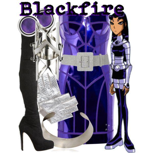 """Blackfire from Teen Titans"" by likeghostsinthesnow on Polyvore"