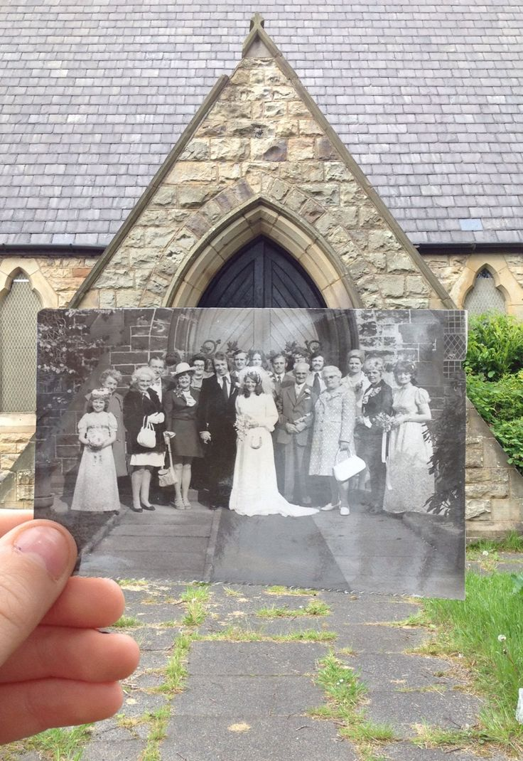 Dear Photograph, This church holds many special  memories for me and my family history past, looking through my grandmas album and finding photos dating back to 1950's. These photos I have exhibited for my project at college using the Dear Photograph technique, I reunited these 1950 photo's with the place today—where my nan and grandad got married in Bolton St. James Church. It was a rainy day, but i got the best photographs I got a grade A* for such an amazing idea thanks to Dear Photograph…