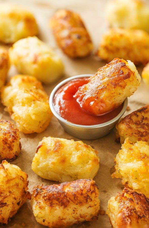 You need only 3 main ingredients for these fluffy, cheesy homemade tater tots. Baked or fried, these little bites are perfect snack for kids and adults!
