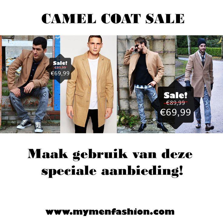 Camel coat sale ! €69,99 http://mymenfashion.com/camel-coat.html