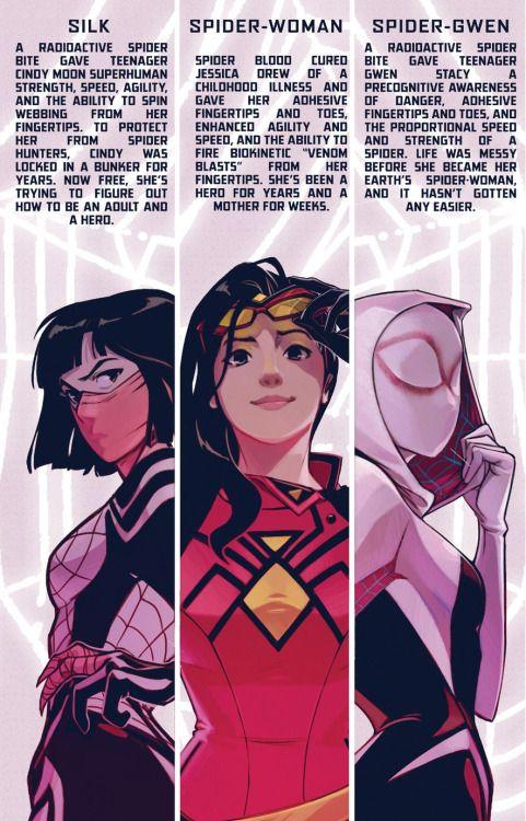 Silk, Spider-Woman & Spider-Gwen in Spider-Women Alpha #1