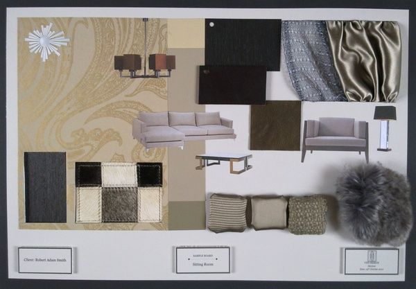 Interior design presentation boards examples sample - Interior design sample board software ...