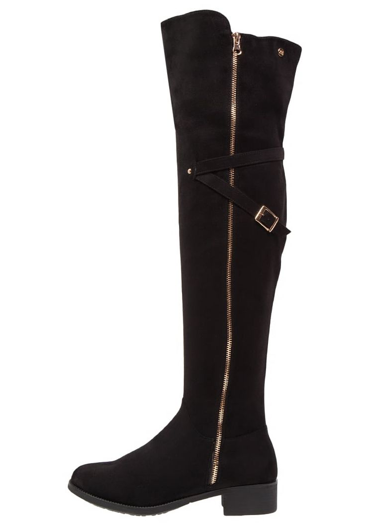 XTI Over-the-knee boots - black for £64.99 (19/09/16) with free delivery at Zalando