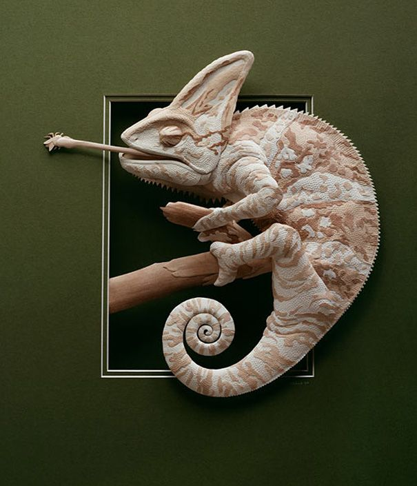 Incredibly Detailed Animal Paper Sculptures by Calvin Nicholls   DeMilked