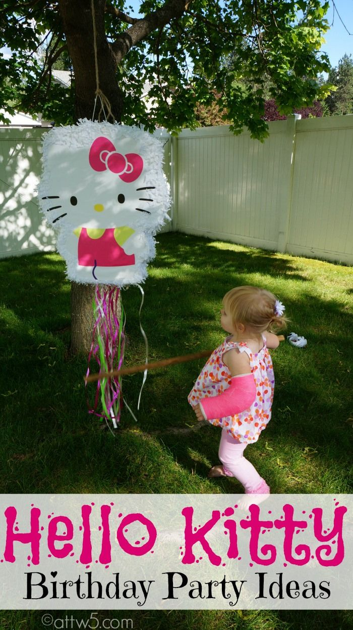 Hello Kitty Birthday Party Ideas #HelloKittyBirthday #NatTurns2