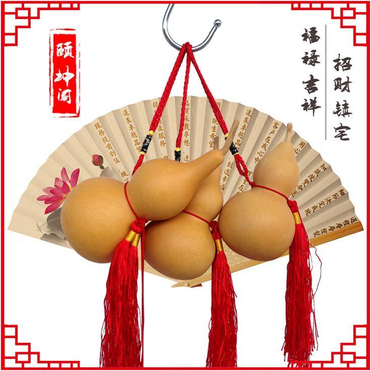 Йи Кун Суд открытия кручение природный тыквы тыква украшения защищает размер деревянные украшения тыквы ремесел зло