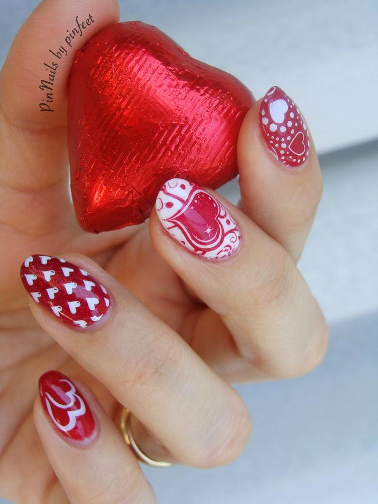 san valentine nail art