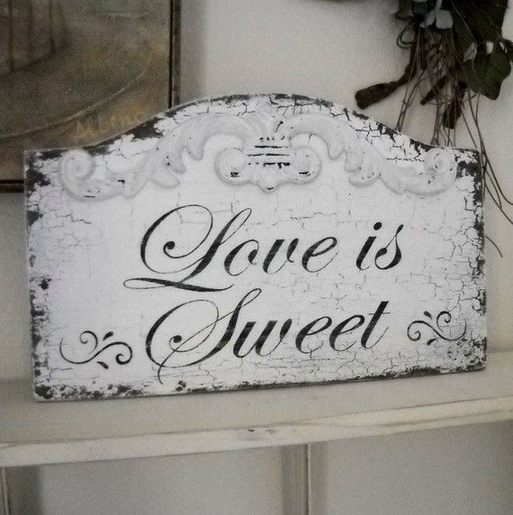 shabby candy signs