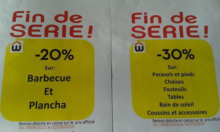 La fin de l'été approche doucement...en Haute-Marne Mais il fait toujours beau. Alors pour votre jardin,balcon,terrasse,c'est -30% sur les parasols,chaises,tables,etc...(du stock disponible en magasin) et -20% sur les barbecues et planchas !!! C'est le moment d'en profiter. En voila une fin de saison sympa avec votre magasin Weldom Chaumont.
