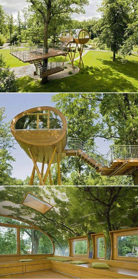 Casa na árvoreDreams Trees House, Magic Treehouse, Dreams Home, Small Places, Amusement Parks, Germany, Design, Sustainable House, Backyards