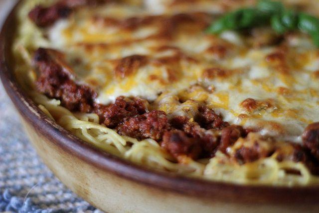 Spaghetti Pizza Pie by jasnicmommy, via Flickr