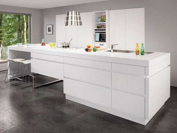 Les 25 meilleures id es concernant cuisine ixina sur pinterest ixina cuisine armoire propre - Cuisine laquee blanche ...
