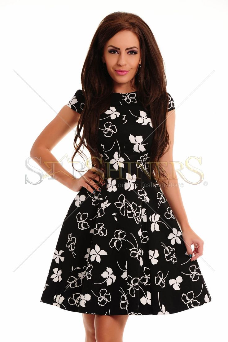 Holly Flowers Black Dress