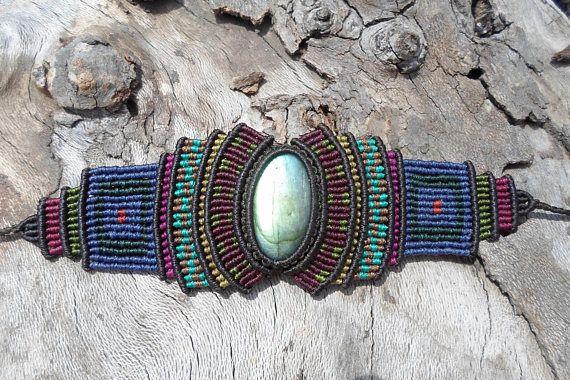 Check out this item in my Etsy shop https://www.etsy.com/listing/524295978/labradorite-braceletmacrame