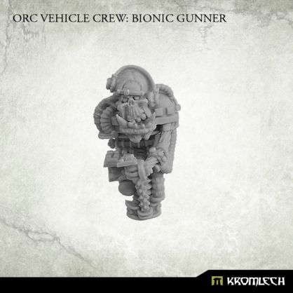 This set contains one Orc Vehicle Crew: Bionic Gunner. It can be used to convert existing orc vehicles or build completely new ones. Designed for 28mm heroic scale. Please note that this model has no seat. Although described as gunner this model is also perfect as a driver.