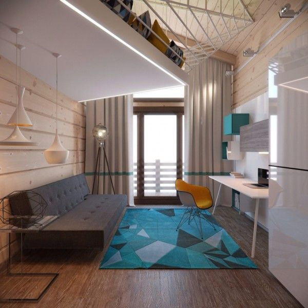 Modern studio loft studio pinterest studios for Studio apartment area
