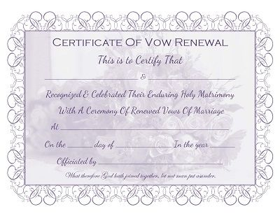 289 best all things wedding images on pinterest marriage marriage vow renewal certificate free printable yadclub Image collections