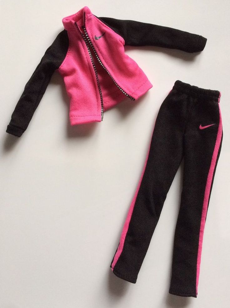 Barbie Doll Clothes BLACK AND PINK NIKE WARM UP OUTFIT Sweat Suit Jacket Pants | Dolls & Bears, Dolls, Barbie Contemporary (1973-Now) | eBay!