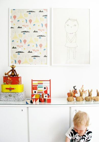 Children's room - Cat poster by Fine Little Day - Varpunen via AAM blog