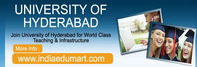 Take Your Chance in Career with University of Hyderabad