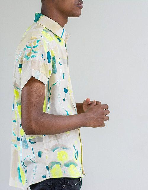 Peta Odini Water Colour Shirt.  Print by Nani iro