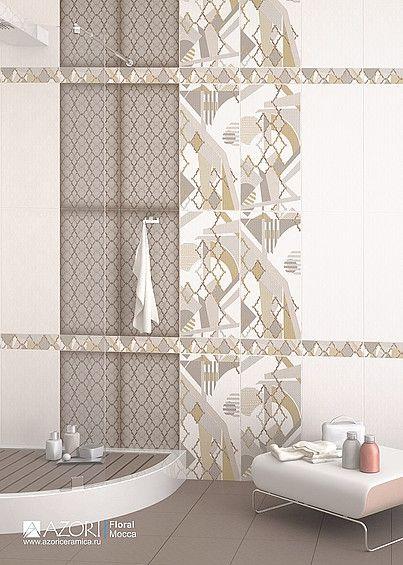 Керамическая плитка для ванной Floral (Флорал) купить в СПБ недорого, цена, каталог, доставка, Azori – Интернет-магазин «Линкер»