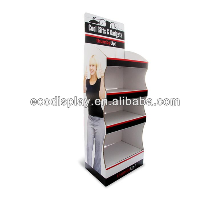 New Design Cardboard Free Standing Gifts and Gadgets cardboard shelf display