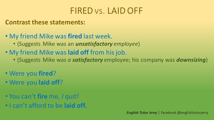 how to get laid off