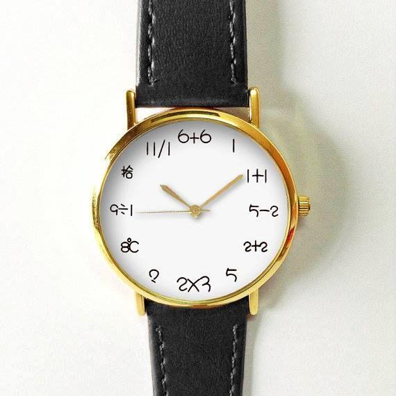 Matemáticas reloj, reloj de ecuación, las mujeres de relojes, reloj reloj para hombre, Unisex, minimalista, novio, única, oro plata color de rosa de oro de estilo Vintage, Relojes de mujer, hombres reloj, reloj Unisex, cuero reloj, esfera blanca de estilo Vintage, reloj de matemáticas, matemáticas simples, relojes únicos, Naves en todo el mundo Tipo: cuarzo Tamaño de la muñeca: Regulable de 17 cm a 21 cm (6,69 pulgadas a 8,26 pulgadas) Pantalla: analógico Dial de Material de la ventana…