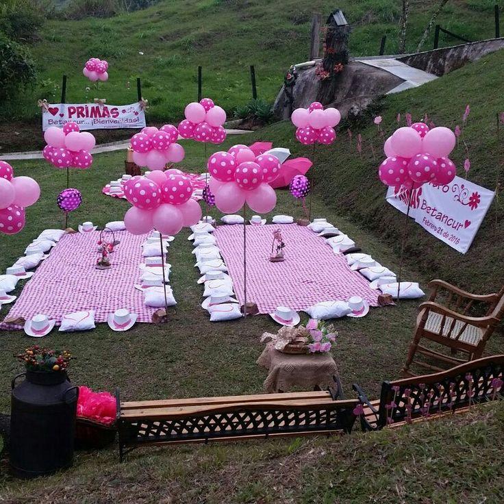 Decoracion picnic Campo vintage,piñatas