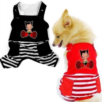 If you and your pet are Astro Boy fans, why not get a cute dogs apparel for your pet? This is a dogs apparel overall featuring Astro Boy on the back and striped accents. It is extremely comfortable fo