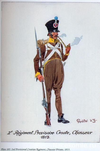 Cacciatore del 2 rgt. di fanteria croata