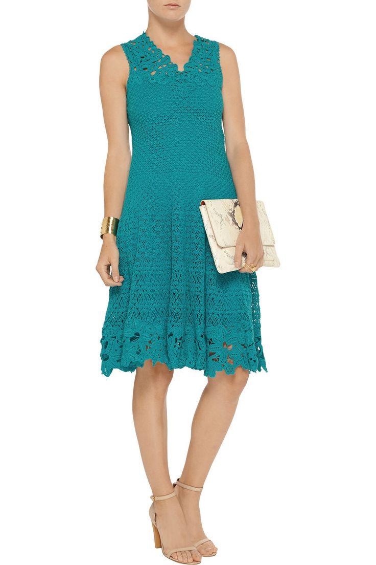 31 Best Oscar De La Renta Images On Pinterest Cable Knitting Zaskia Mecca Elena Blouse Navy Crocheted Cotton Dress Price 3 57555 Euros
