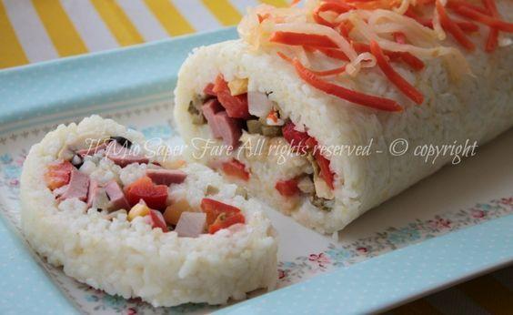 Rotolo di riso freddo insalata di riso ricetta il mio saper fare